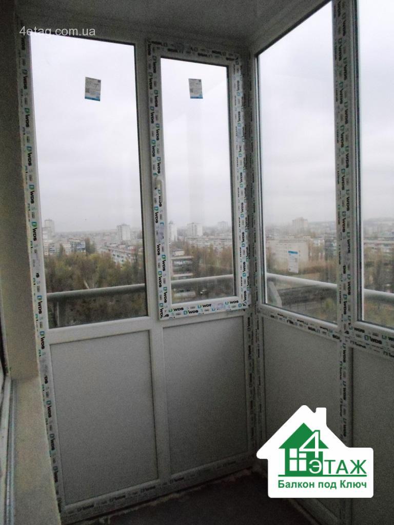 """Застеклить балкон в киеве в компании """"4 этаж балкон под ключ."""
